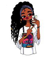 black girl cartoon ideas