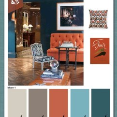 Navy Blue Velvet Slipper Chair Double Camp Rust,gray,blue Color Combo | Home Decorating Ideas Pinterest Colors For Kitchens, Living ...