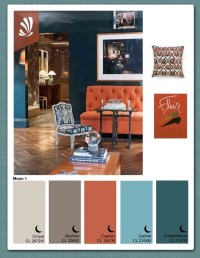 rust,gray,blue color combo | Living room colors/ideas ...