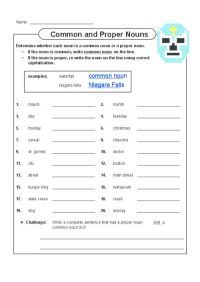 Common and Proper Nouns 3 | See more best ideas about ...