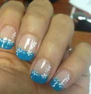blue french tips ideas