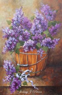french country lilacs cottage decor Provence wall art ...