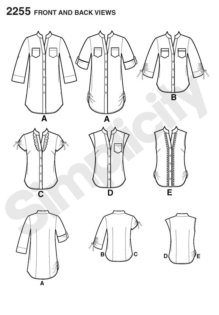 Simplicity pattern 2255: Misses' Easy to Sew Tunic or