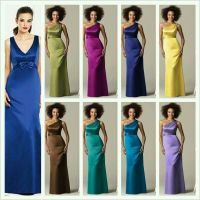 Peacock color theme bridesmaid dresses from Dessy.com ...