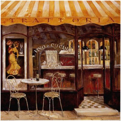 italian bistro kitchen decorating ideas cart with seating cafe paintings | cafes pinterest ...