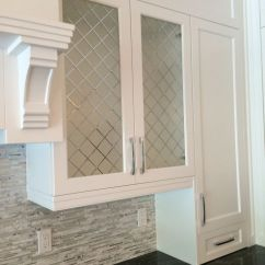 Diy Kitchen Cabinet Refacing Bosch Universal Plus Machine Decorative Glass Inserts With Rain And ...