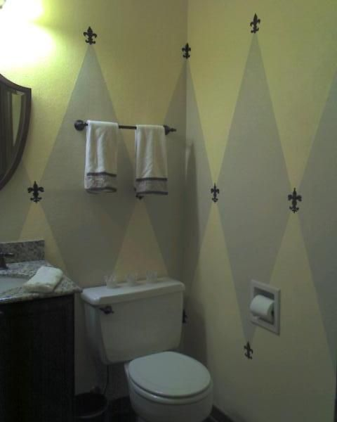 Diy Fireplace Makeover Ideas Half Bathroom Decorating Ideas | New Orleans Style Half