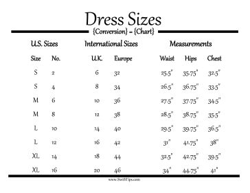 Tailors and seamstresses can use this conversion chart to