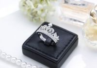 Princess Crown Engagement Ring Queen Crown Ring by ...