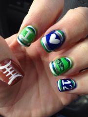 seahawks nails 3 nail art