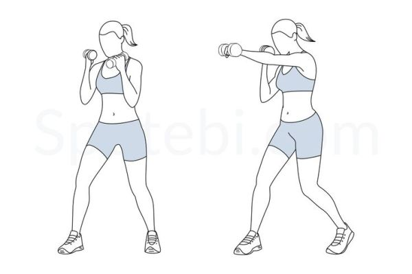 Dumbbell Punches Upper body