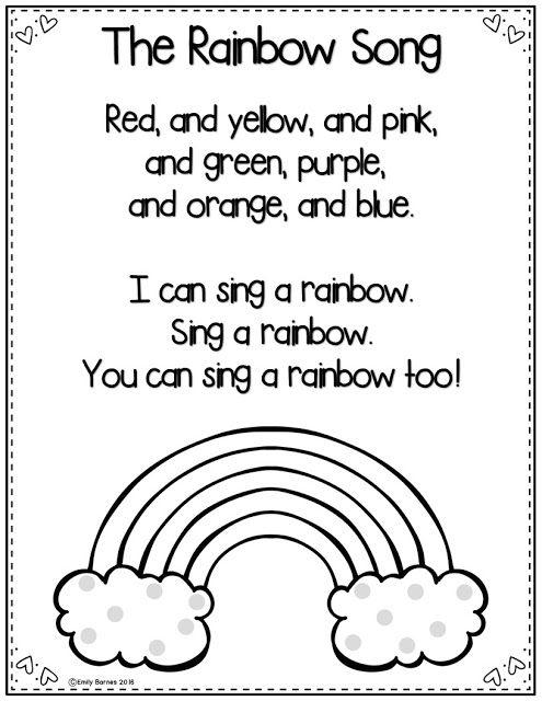 25+ best ideas about Rainbow poem on Pinterest