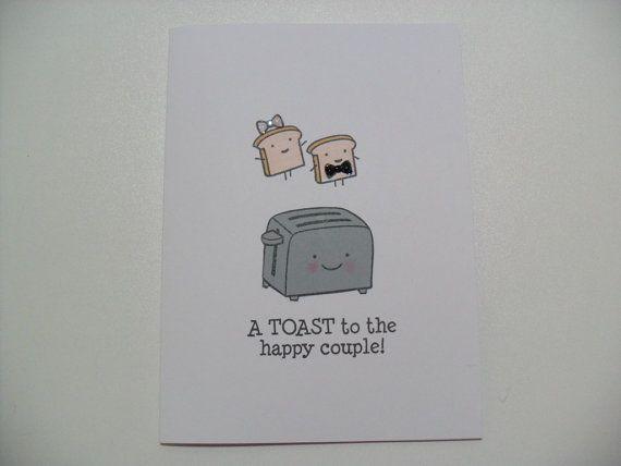 EngagementWedding Card Wedding Shower Card Toaster