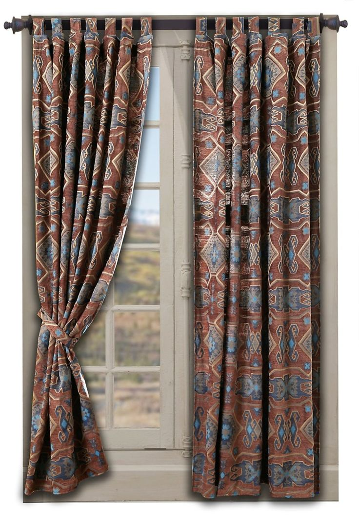 Southwestern Curtains In Native American Patterns Cool Home Accents Pinterest Southwestern