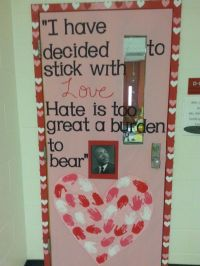 Valentine's day door black history month | Classroom Stuff ...