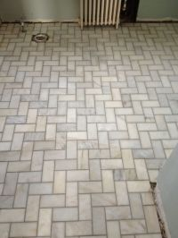 Herringbone Bathroom Floor Tiles : Amazing Orange ...