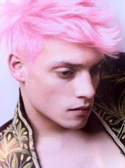 male model - pink hair