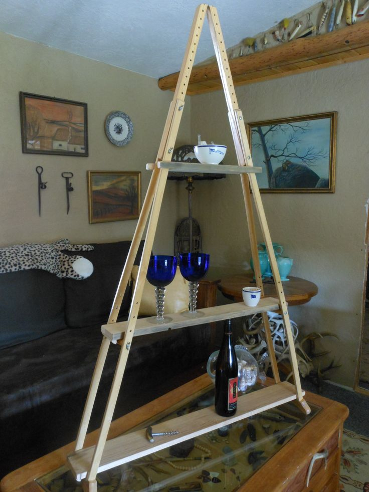 Vintage wooden crutches made into shelf  Stuff we have