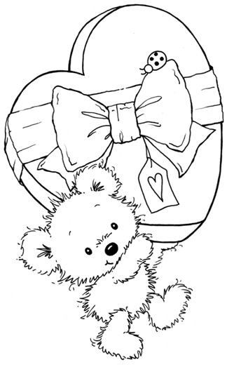 114 best images about Teddy Bears Coloring Art Print Pages