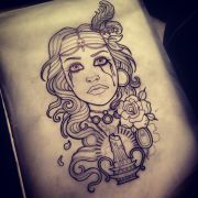 artwork design client girl gypsy