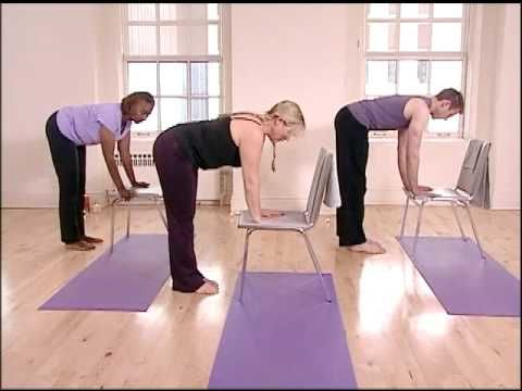 yoga chair exercises for seniors air mattress bed