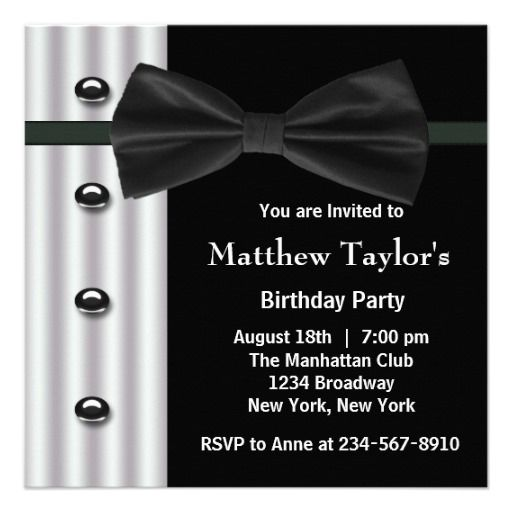 1000 Images About Black And White Party Invitations On