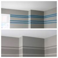 Gray striped wall | Ideas for the home | Pinterest | Grey ...