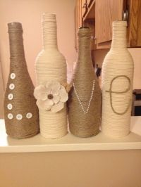 Decorated wine bottles | home&crafts | Pinterest ...