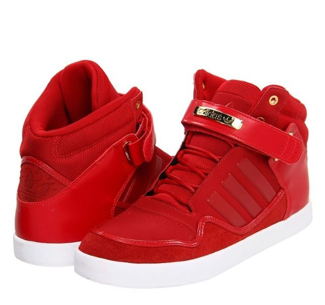 Red adidas high tops  Shoes I Want   Pinterest  Adidas