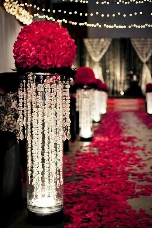 Stunning Wedding Red Black  White  Hall Decoration  Sweet 16 ideas  Pinterest  The