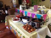 Food table setup for baby shower   Baby shower ideas ...