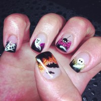 13 best images about Halloween gel nails on Pinterest