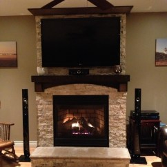 Living Room Tv Mounting Height Photos Of Designs Stone On Fireplace With Mounted Over Mantle ...