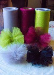 diy tulle hair bow tutorial craft