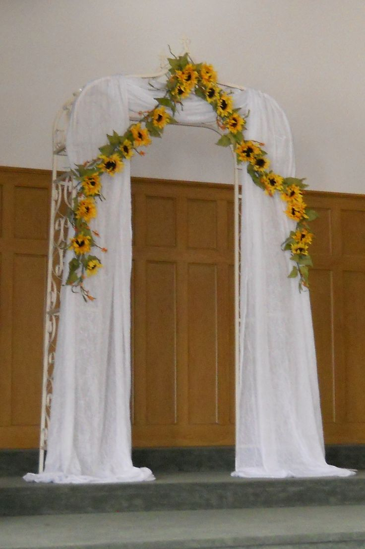 Sunflower Arch  Stephanies Country Chic Wedding  Pinterest  Sunflowers