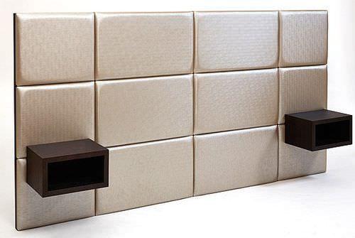Tte de lit contemporaine  avec table de chevet intgre POITOUX  Ttes de lit  Pinterest