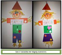 Sam and Samantha Scarecrow Shape Craftivity | Scarecrows ...