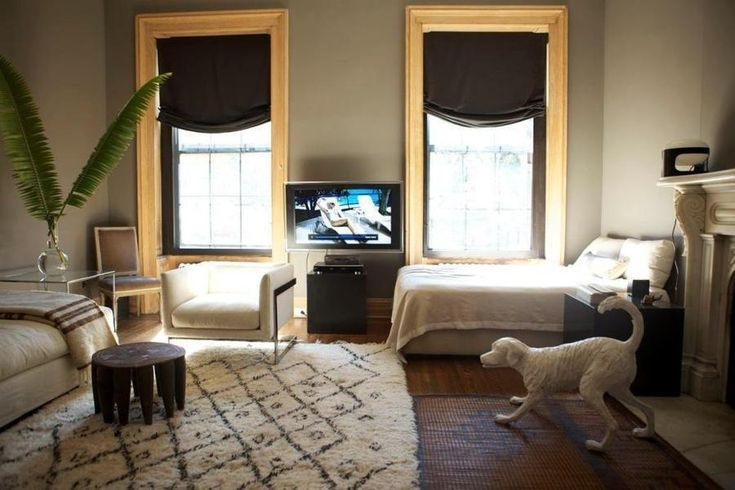 13 West 9th Street 5 studio apartment nyc apartment relaxed roman shades daybed small
