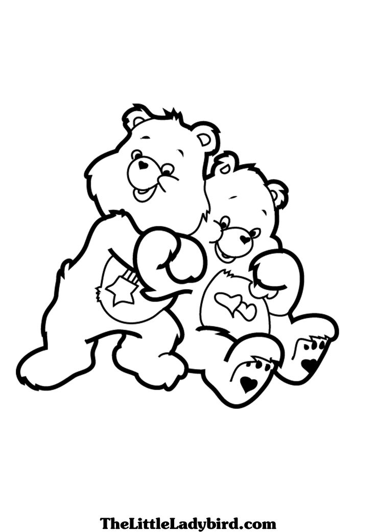 Care Bears Love a Lot Hugs Coloring printable page