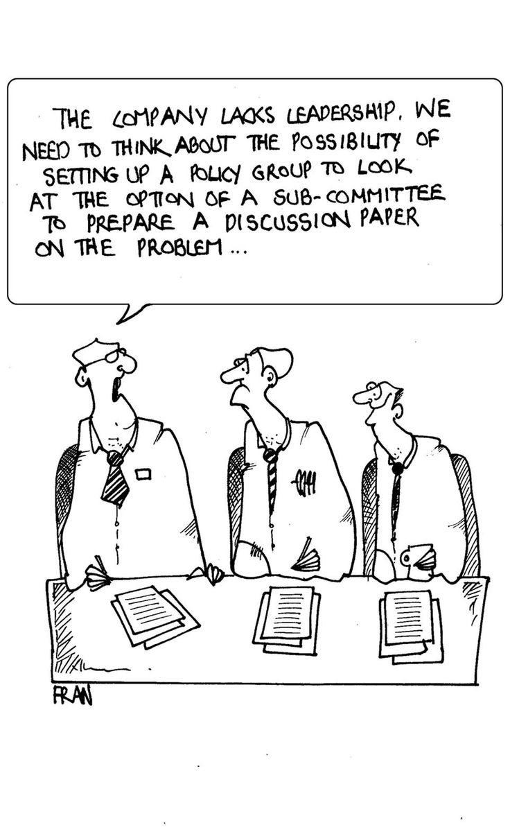 Business Transformation World: Business Cartoon from