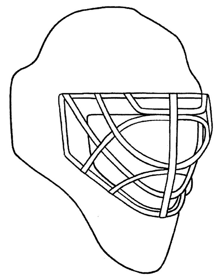 Design your own goalie mask. Chicago Blackhawks coloring