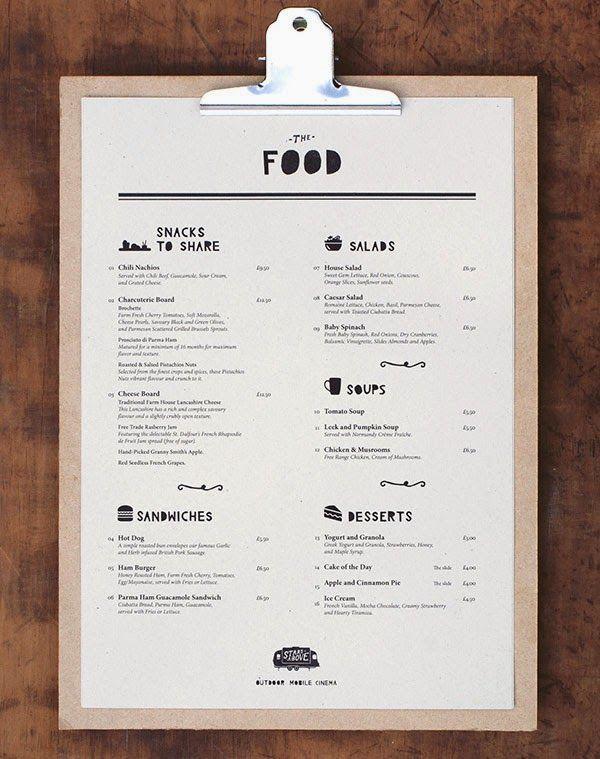 resturant menu designs