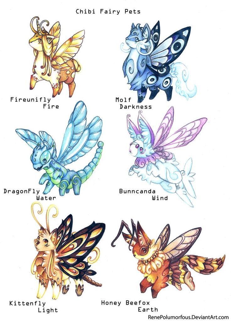Chibi Fairy Pets By RenePolumorfous On DeviantART