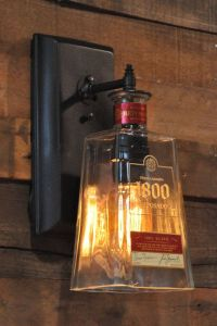 Recycled bottle lamp wall sconce 1800 Tequila Bottle ...