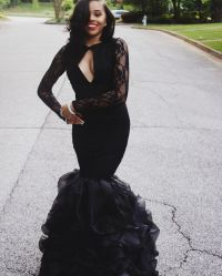 17 Best ideas about Black Mermaid Dress on Pinterest ...