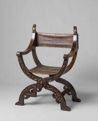Folding X-chair, Anonymous, c. 1620 - c. 1650 |  ...