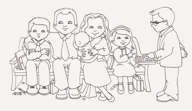 susan fitch design: Sacrament Family (Illustration