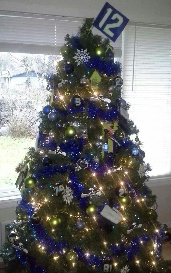 9 Best Images About Seattle Seahawks Christmas Decor On Pinterest Ornament Tree Trees And