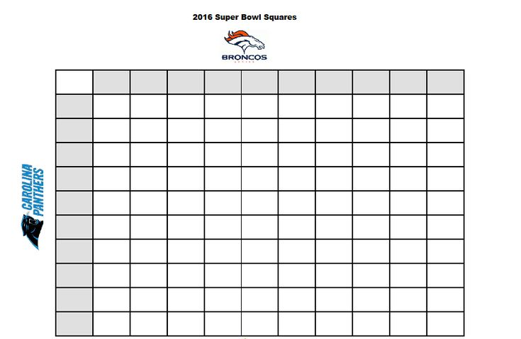 Here's a free printable template for the 2016 Super Bowl