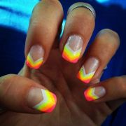 striped nail design awesome